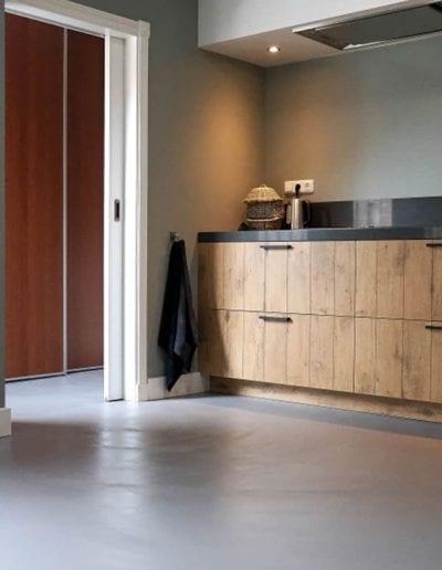 Microcement kitchen