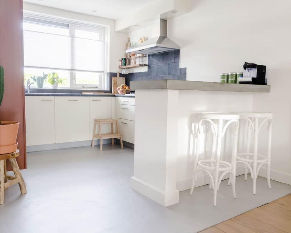 mikrocement på køkken