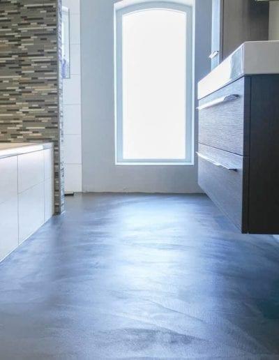 mikrocement gulv badeværelset