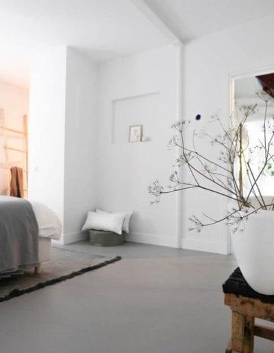 Microcement i soveværelset
