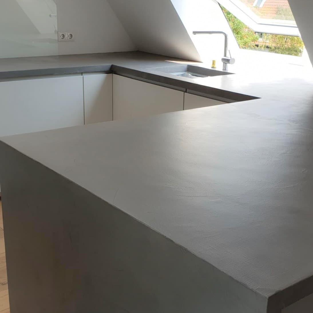 microcement køkkenbordplade