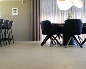 microcement gulv køkken